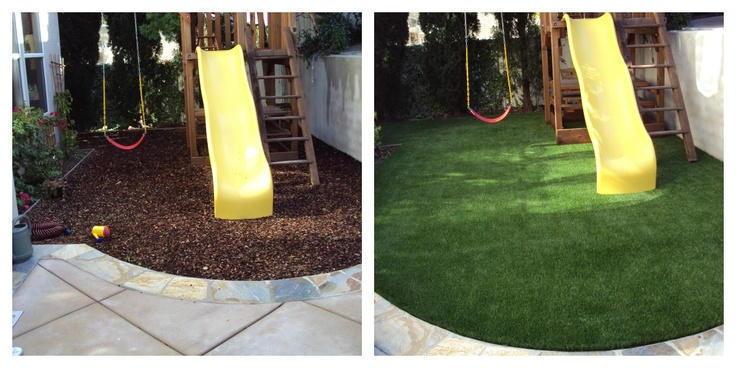 La pelouse synthétique dans les zones de jeux infantiles