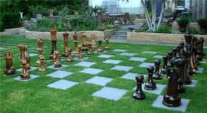 Gazon synthétique pour jouer aux échecs