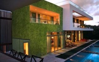 Gazon synthétique façade maison