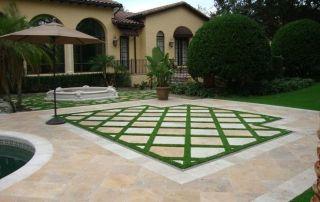 Intégration pelouse synthetique