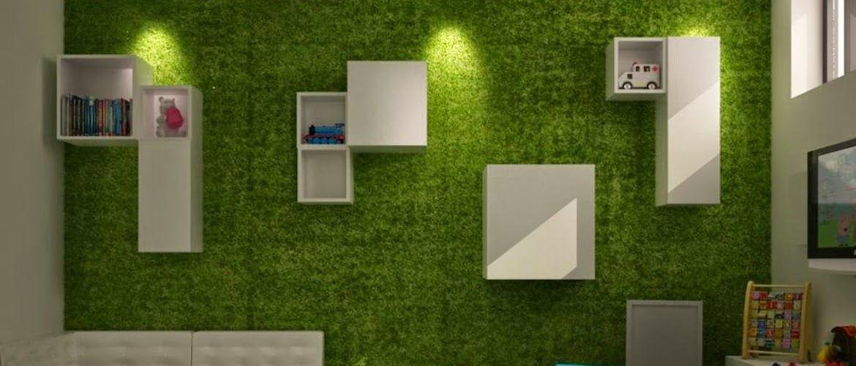 Pelouse artificielle mur intérieur